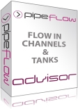 Channel Flow and Tank Flow Calculations, find flow, volume, weight, expansion, tank empty times