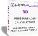 Pipe Flow 3D, pressure drop and pressure loss calculations on a network of pipes.