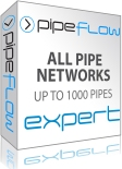 Pipe Flow Expert, Calculates flows and pressure losses through a complex pipe network.