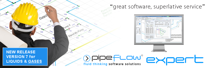 Piping Design Software: Pipe Flow Rate and Pressure Drop Calculations